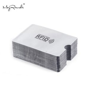 10pcs Anti-Scan Card Sleeve Credit RFID Card Protector Anti-magnetic Aluminum Foil Portable Bank Card Holder