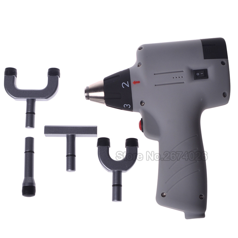 2019 800N 4 Heads Adjustable Intensity Therapy Chiropractic Adjusting Instrument\Activator Massager\ Electric Correction Gun