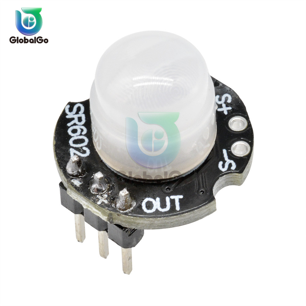 <font><b>SR602</b></font> DC 3.3V-15V Smart Body Motion Sensor Detector Module <font><b>SR602</b></font> Pyroelectric Infrared PIR Sensor Switch Board image