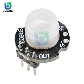 цена на SR602 DC 3.3V-15V Smart Motion Sensor Detector Module SR602 Pyroelectric Infrared PIR Sensor Switch Board