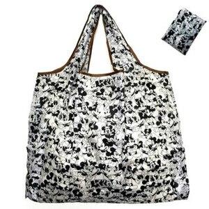 50*60cm Disney cartoon folding bag for shopping Mickey mouse bag storage High capacity green bag hand cartoon shoulder(China)