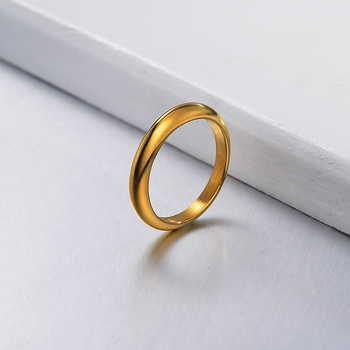 Baoyan 2021 New Fashion Simple Korean Ring Rings Jewelry Gold Unisex Unisex Gift image