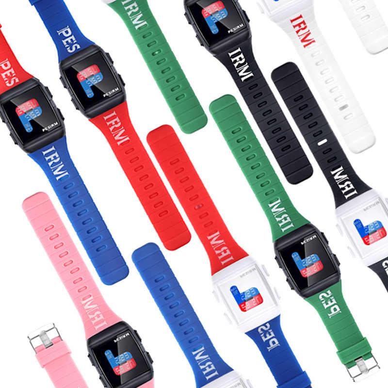 ファッションメンズ · レディース Led デジタル腕時計時計インテージフルシリコーンストラップスポーツ軍事レディース腕時計奪うレロジオ Masculino