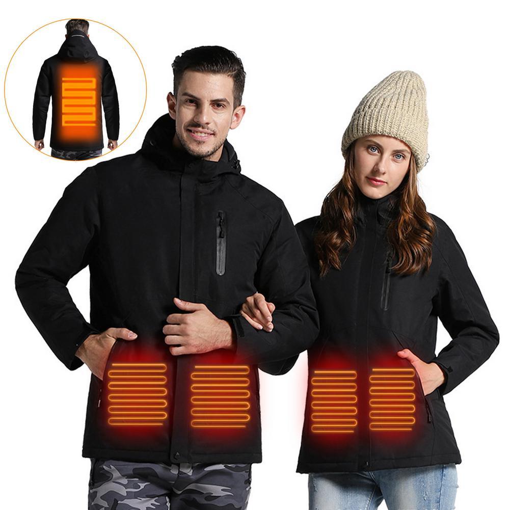 Winter USB Charging Heating Jacket Waterproof Ski Top Coat For Winter Skiing Hiking Cycling Warm Vest