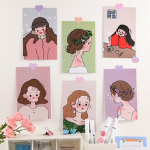 Postcard Wall-Sticker Photo-Props Hand-Account Korean-Girl DIY Small Ins Metop Inset
