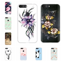 For Alcatel 1S 2019 Phone Case Ultra-slim Soft TPU Silicone 1s Cover Flowers Patterned alcatel Bumper Shell