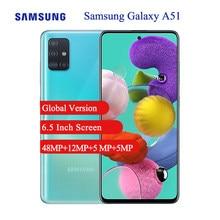 Version mondiale Samsung Galaxy A51 Android téléphone portable 6GB 128GB 6.5