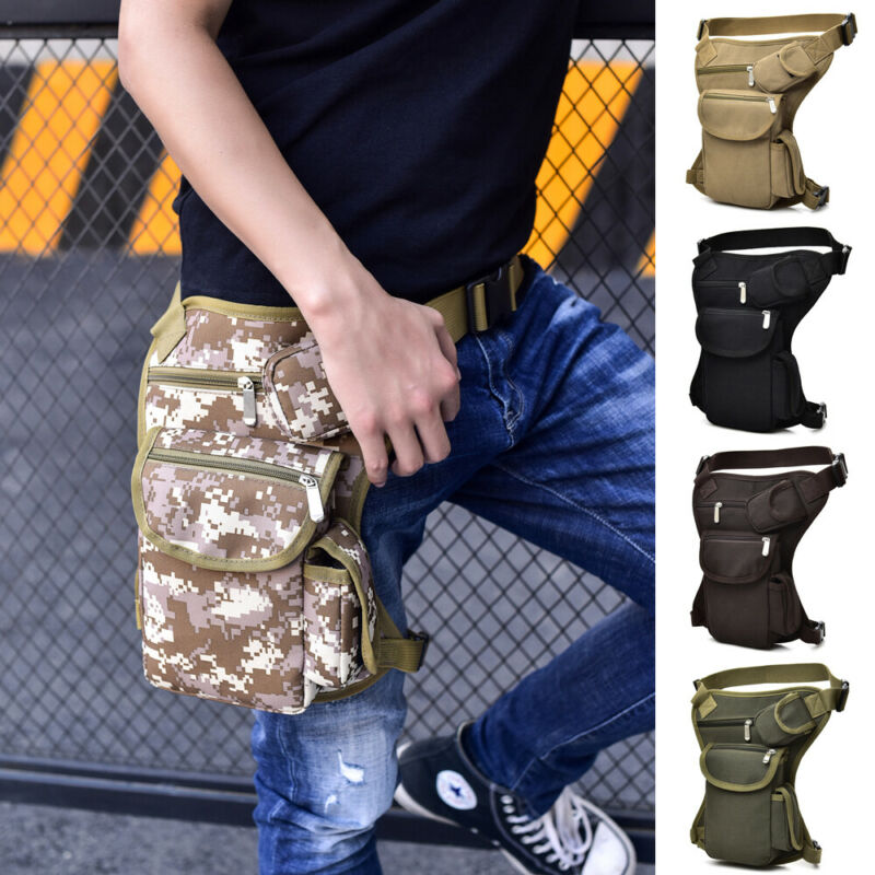 Outdoor Tactical Men Waist Leg Bag Waterproof Hip Drop Belt Waterproof Fanny Pack Pouch  /BY