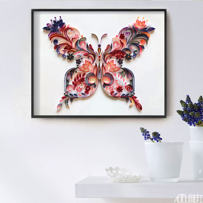 20 inch butterfly quilling illustration material package DIY creative slot craft paper handmade decoration gift paper draft 5