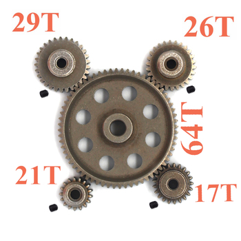round flange planetary gear reducer 12 arcmin ratio 15 1 to 100 1 for nema34 750w ac servo motor input shaft 16mm HSP 48P 0.8M 64T Main Metal spur Gear 5mm reducer&17/21/26/29T Motor Gear 3.17mm Shaft diameter for Hsp 94123 94111 94107 94170