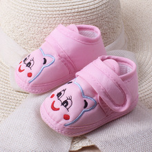 Buy Autumn Non-slip Men And Women Baby Study Walking Shoes Cartoon Little Bear Baby Single walk Shoe directly from merchant!
