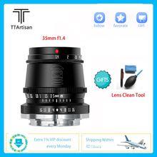 Объектив ttartisan 35 мм f14 Профессиональный для камеры sony
