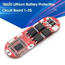 5S 25a bms 18650 li-ion lipo proteção da bateria de lítio módulo placa de circuito pcb pcm lipo carregador 1s 2s 10a 3s 4S