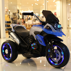 Children's Electric Motorcycle Baby Tricycle 2- 7 Year-old Child Charged Bottle Toys Can Take People Kids Car Electric