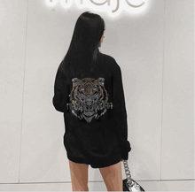 Feminino jovem strass estilo sweatershirt 2021 design manga longa férias casual hoodies meninas