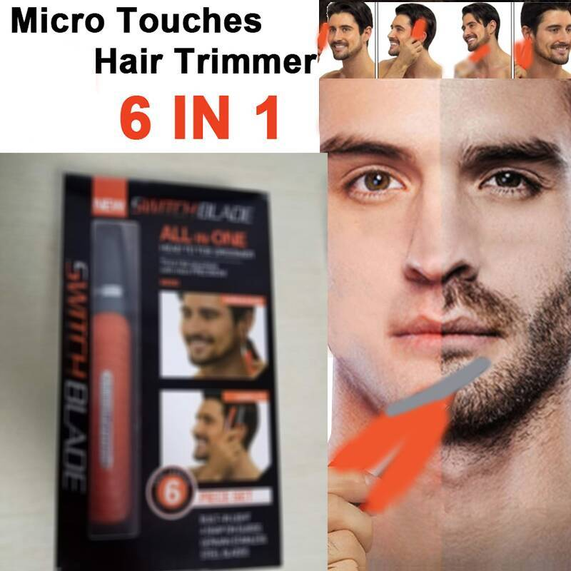 All In One Micro Precision Eyebrow Ear Nose Trimmer Removal Clipper Shaver Unisex Electric Face Care Hair Trimer With LED Light