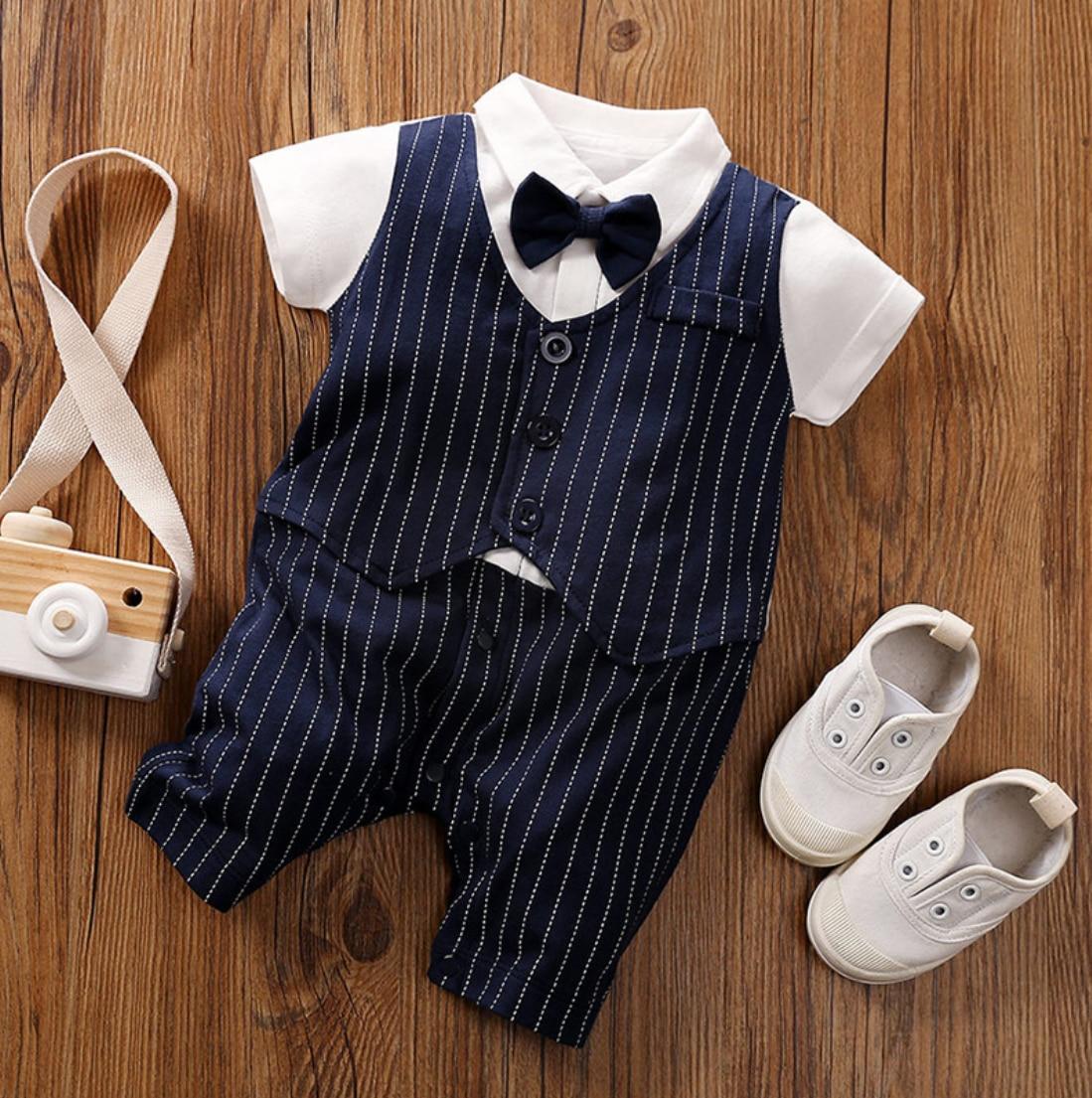 Malapina 2020 lato noworodka chłopiec dziewczyna ubrania Onesie Romper kombinezon niemowlę strój z muszką dziecko Unisex kostium