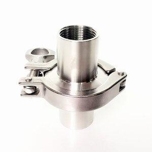 """Image 3 - 1 компл. 1/2 """"DN15 нержавеющая сталь SS304 санитарный внутренний резьбовой наконечник OD 50,5 мм + три зажима + прокладка"""
