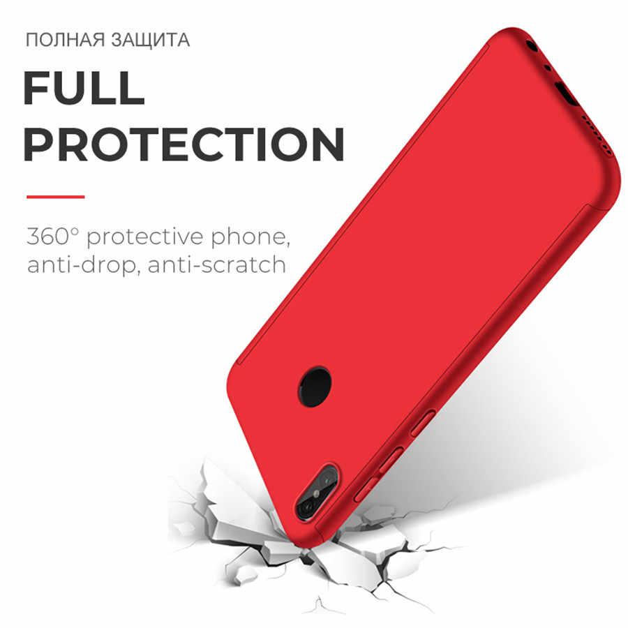 360 PC tam kapak kılıfları Huawei P20 P30 Pro P10 P9 P8 Lite 2017 Mate 8 9 10 20 Lite Pro kılıf kapak koruyucu film