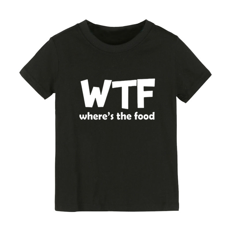 WTF WHERE'S THE FOOD Print Kids tshirt Boy Girl shirt Children Toddler Clothes Funny Street Top Tees CZ-182 image