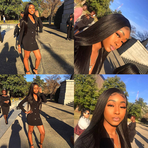 Image 5 - Sapphire Straight Hair Frontal With Bundles Human Hair Bundles With Frontal Brazilian Hair Weave Bundles With Closure Frontal