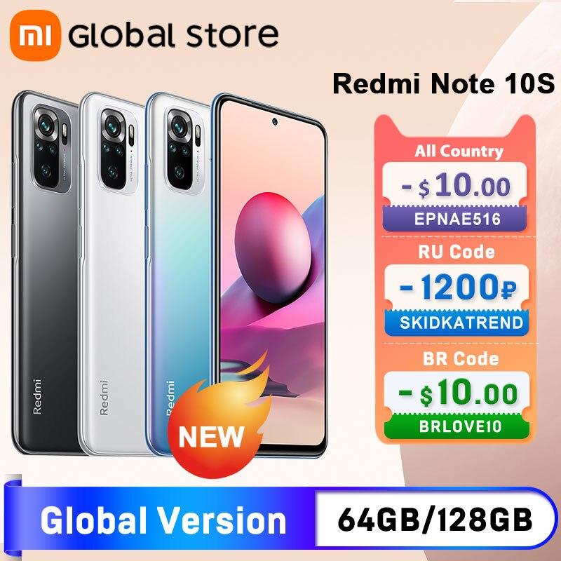 Глобальная версия смартфона Xiaomi Redmi Note 10S 6 ГБ 64 Гб/128 ГБ Helio G95 6,43