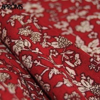 Aproms Wine Floral Print Boho Short Dress Women Backless High Waist Summer Dress Vintage Beach Dress Sundresses Vestidos 2020 5