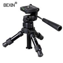 מקצועי צילום נסיעות נייד קומפקטי קל משקל מיני חצובה מצלמה Stand עם פאן ראש עבור DSLR slr
