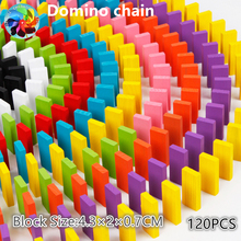 Domino Toys Children Wooden Colored Blocks Kits Early Learning Dominoes Games Educational Children Gift early efl vocabulary learning impact of games