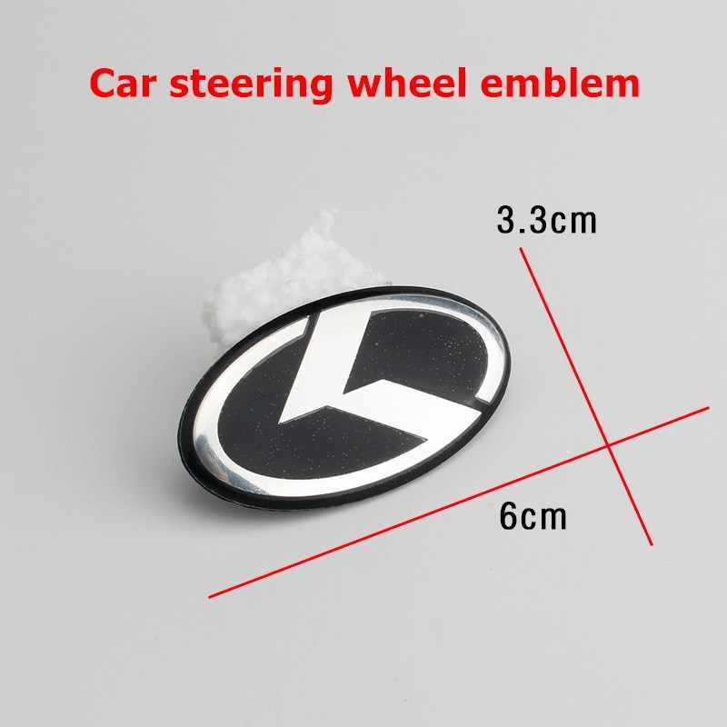 Autocollants pour volant de voiture, 7 pièces, autocollants pour Center de roue, Badge avant et arrière, pour KIA K emblème K2 K3 K4 K5 Sorento