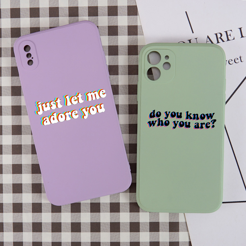 Harry Styles Fine Line Phone <font><b>Case</b></font> for <font><b>iPhone</b></font> <font><b>X</b></font> XR <font><b>Xs</b></font> Max 11 8 7 Plus SE 2 Luxury <font><b>Original</b></font> Square Liquid Silicone Soft <font><b>Case</b></font> Cover image