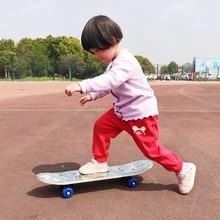 60CM Kids Four-wheel Skateboard Maple Wood Skateboarding Print Scooter Longboard Outdoor Sports Children Skateboards цена