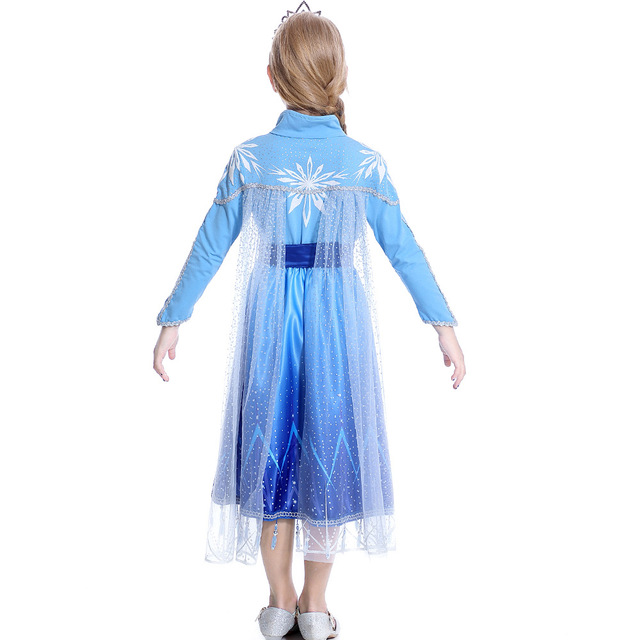 New frozen 2 Anna Elsa Princess Dress Girls Set Christmas Birthday Costumes Princess Dress For Kids Vest