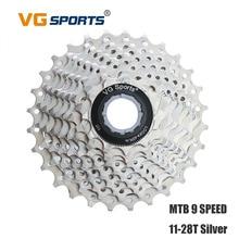 VG Sports Cassette 9 Speed MTB Bicycle Freewheel 28T Sprocket Fixed cog cdg for Shimano Sram Road Bike Flywheel 9 Velocidade 28T shimano acera fc m361 175мм кв 48 38 28t черный