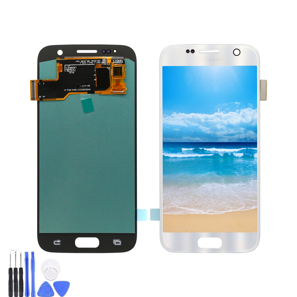 For Samsung <font><b>Galaxy</b></font> <font><b>S7</b></font> <font><b>G930F</b></font> G930A G930V LCD <font><b>Display</b></font> Touch Screen Digitizer Replacements <font><b>G930F</b></font> LCD For Samsung <font><b>S7</b></font> LCD Screen image