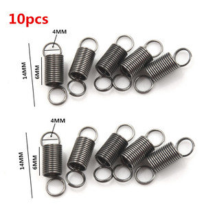 10pcs/lot 10mm Draw To 30mm Stainless Steel Small Tension Spring With Hook For Tensile DIY Toys
