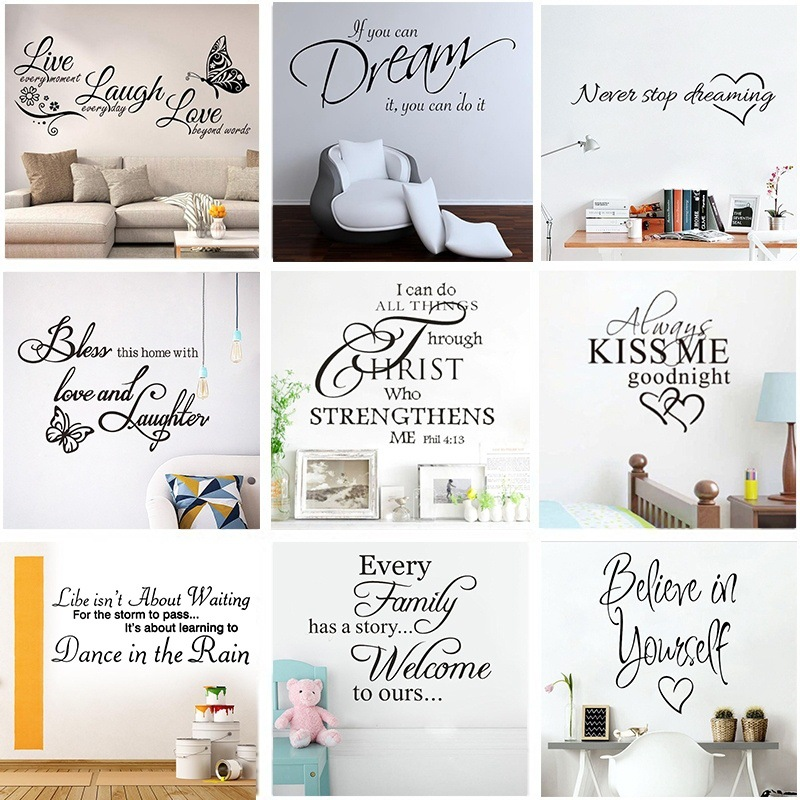Hot Sell Quotes Wall Sticker Motivational Phrases Wall Decals For Office School Living Room Removable Wallpaper Decorations Wall Stickers Aliexpress