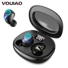 VOULAO Wireless Earphones Bluetooth 5.0 Earphone Mini TWS Wireless Blu