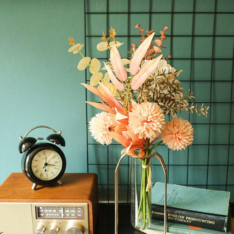 INS Newlyweds Make цветы Высокое качество Одуванчик пион Гибридный букет свадебное зеленое растение домашнее свадебное украшение искусственный цв...