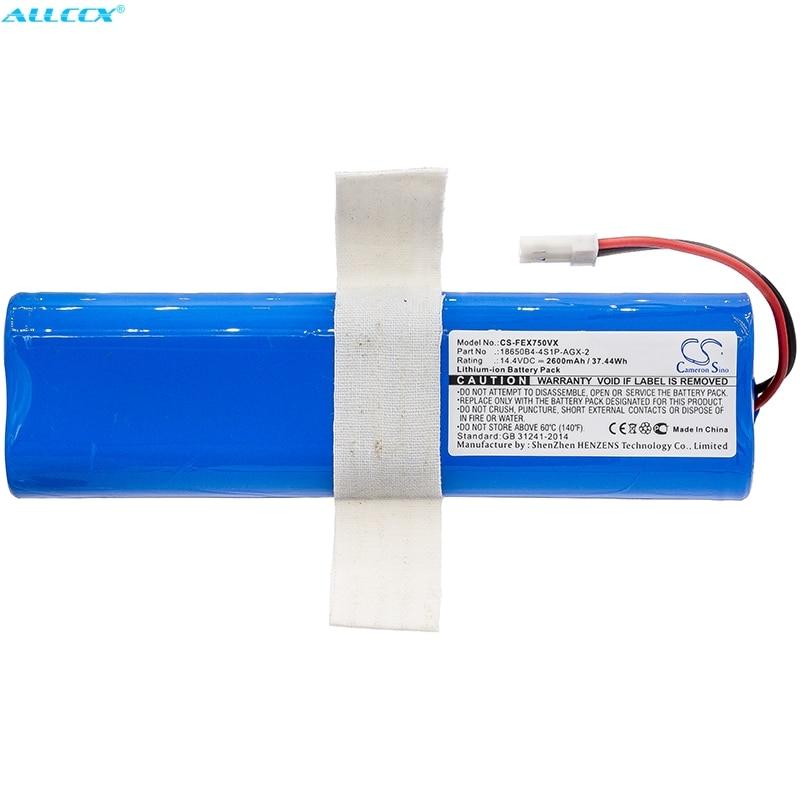 Cameron Sino 2600mAh Batterie 18650B4 4S1P AGX 2 für ILIFE V3s Pro  V50  V5s Pro  V8s  X750-in Digitale Batterien aus Verbraucherelektronik bei title=