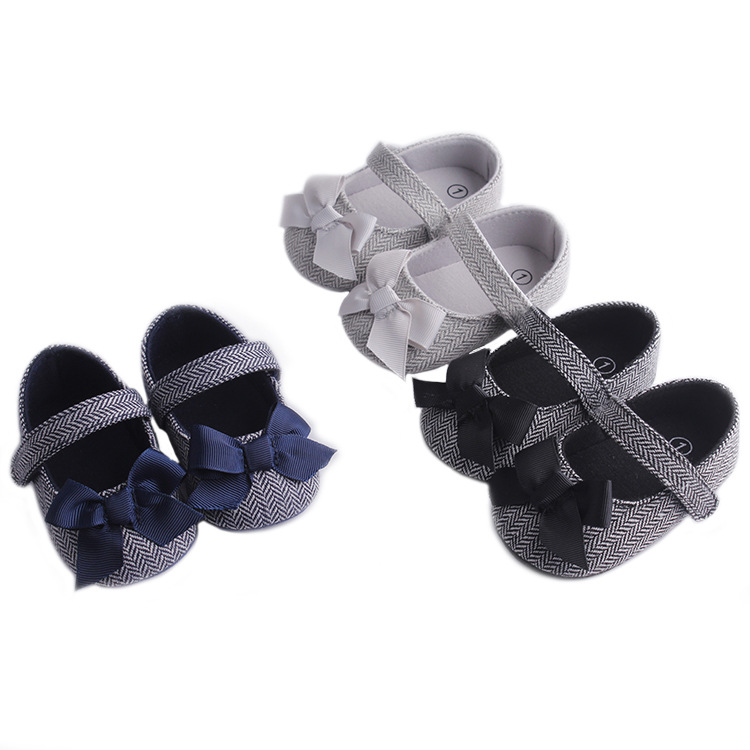 0-18M Princess Baby Girls Bow Shoes Newborn Infant Girls First Walkers Autumn Spring Baby Crib Shoes