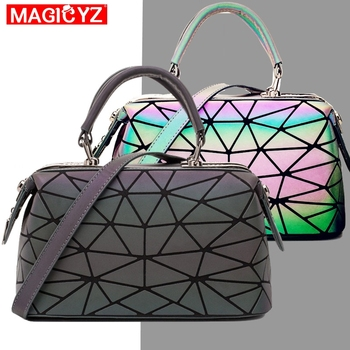 Luminous Geometric Sequins Stitching Boston Shoulder Crossbody Bag