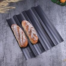 Nonstick Baguette Mould 4 Slot Wave Baking Pan French Stick Mould Baking Pan French Bread Baking Pan Mould-Nonstick Bread Pan-Re