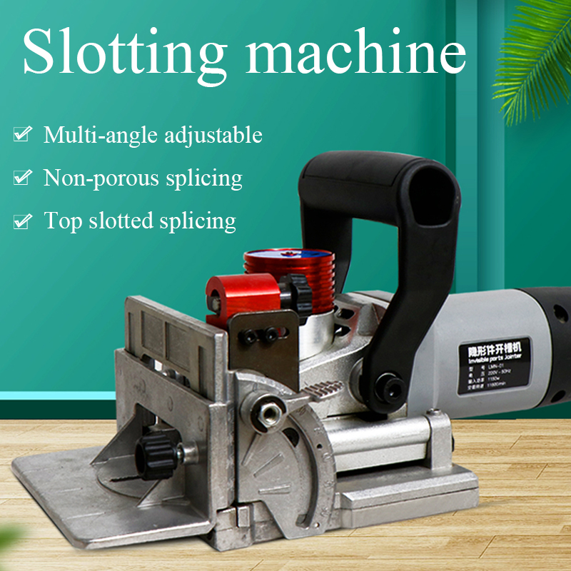 Lamino Slotting Machine Wood Boring Machinery Furniture Cabinet Connector Wood Routers Planers Biscuit Joiner Tenon Maker Tool