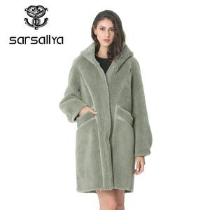 Image 2 - Kadın yün ceket kış kadın uzun ceket Hood sonbahar yün Blend Peacoat kız sıcak kaşmir palto bayanlar pembe güz 2020 zarif
