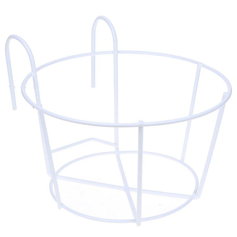 Подвесной завод железные стеллажи балкон круглый цветочный горшок стойки перила забор открытый Прямая поставка Садовые принадлежности - Цвет: D