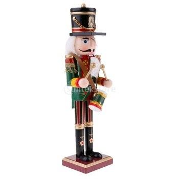 Figuras Vintage de 30cm de madera de Cascanueces, soldado, adornos de escritorio para el hogar, regalo de Navidad y de cumpleaños para niños, Año Nuevo