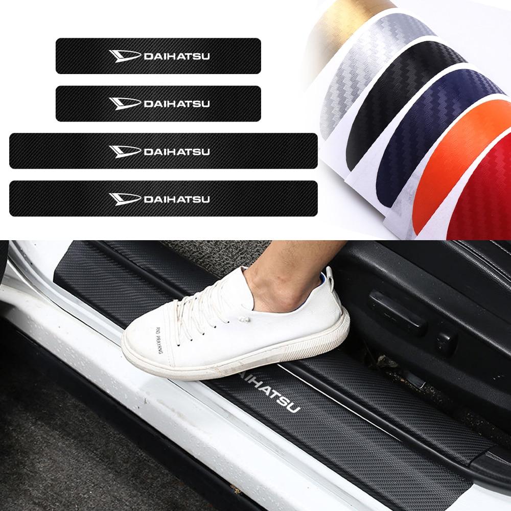 Para daihatsu yrv scion venza datsun sirion terios serion on-do 4 pçs estilo do carro protetor do peitoril da porta de fibra de carbono adesivos