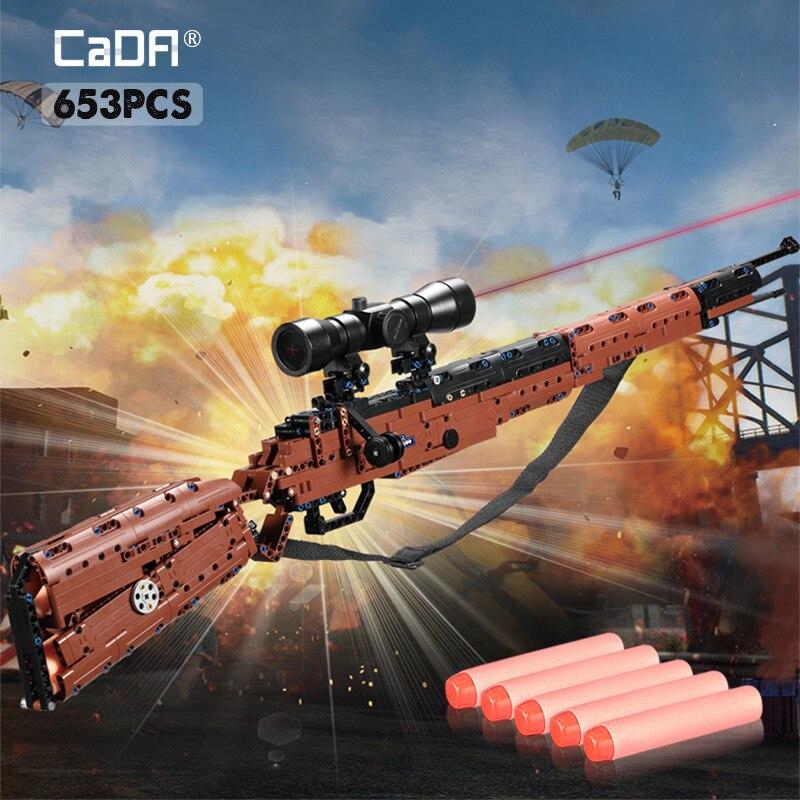SWAT militaire WW2 arme 98K Desert Eagle modèles de sous-machine blocs de construction compatibles avec les blocs de pistolet à pistolet