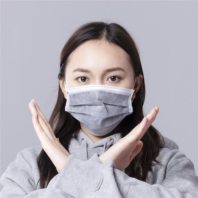 10pcs Men Women adult Cotton Anti Dust Mask Activated Filter 3 layers mouth mask muffle Bacteria Proof Flu Face Masks 2